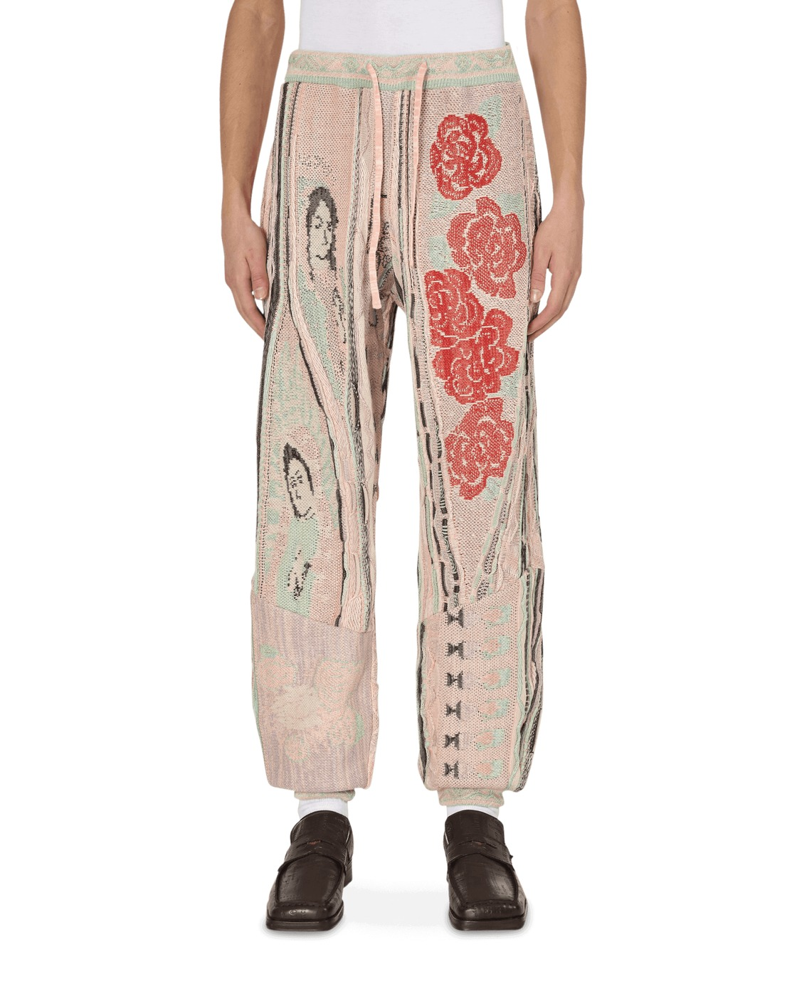 Kapital 7g Virgin Mary Gaudy Knit Pants Lightpink
