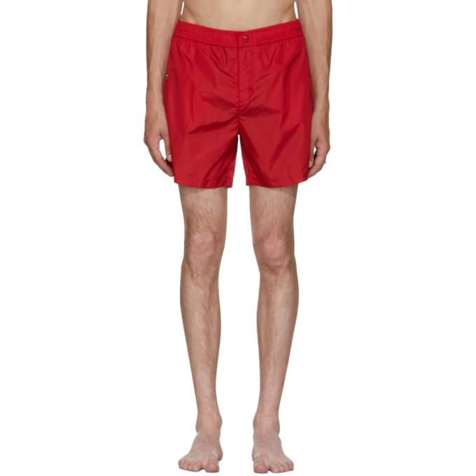 Photo: Moncler Red Dolmias Beach Swim Shorts