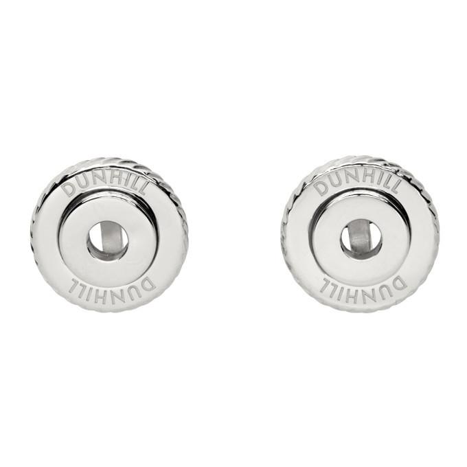 Dunhill Silver Gear Cufflinks