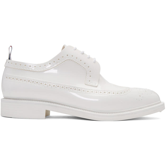 Photo: Thom Browne White Rubber Classic Longwing Brogues