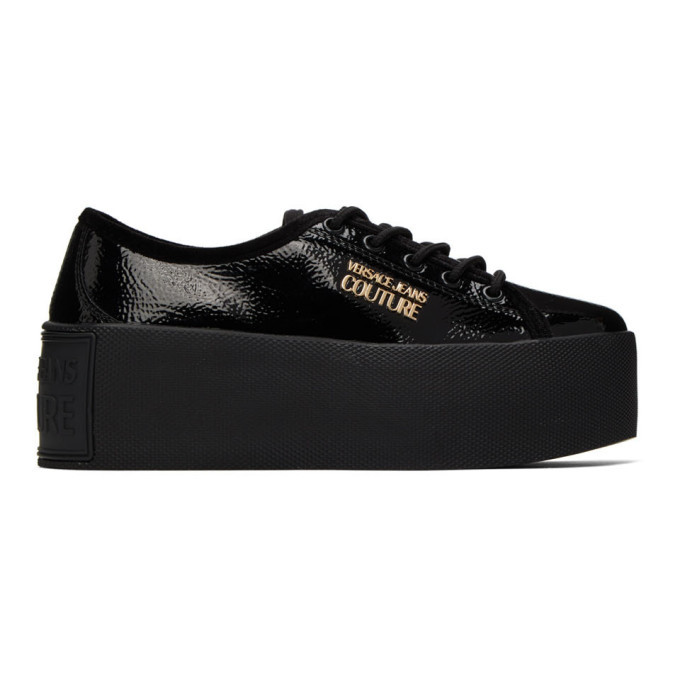 Photo: Versace Jeans Couture Black High Box Shiny Sneakers