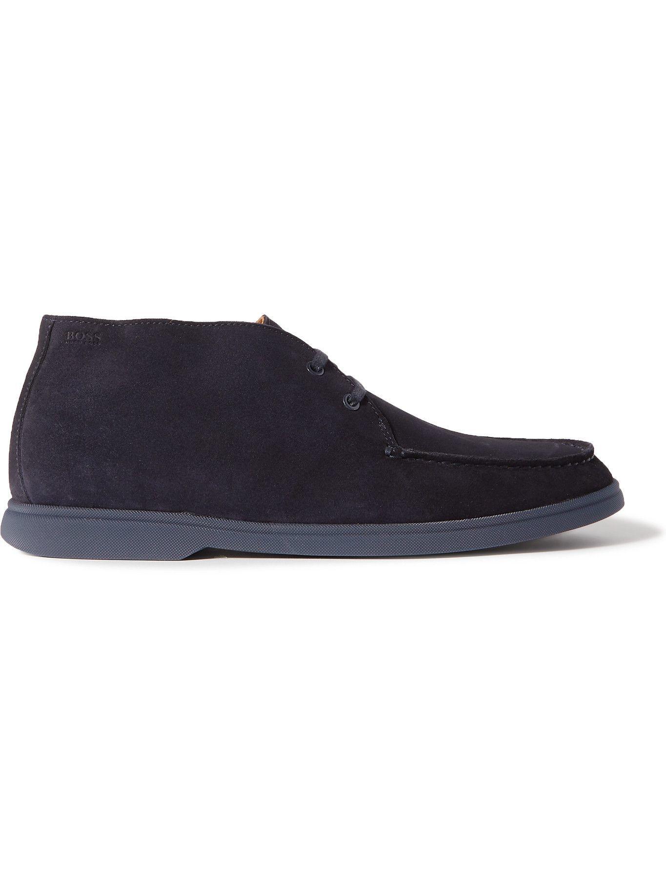 HUGO BOSS - Suede Desert Boots - Blue