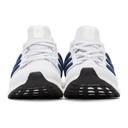 adidas Originals White and Navy Ultraboost 4.0 DNA Sneakers