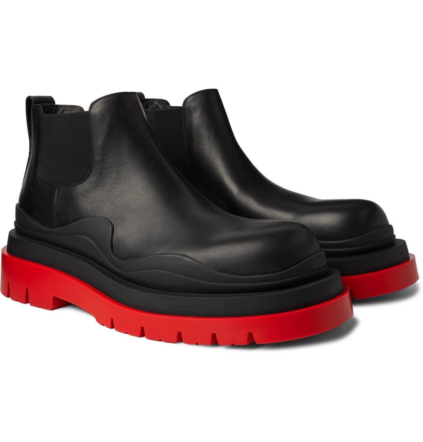 Photo: Bottega Veneta - Exaggerated-Sole Leather Chelsea Boots - Black