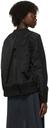 Sacai Black Nylon Twill Mix Sweatshirt