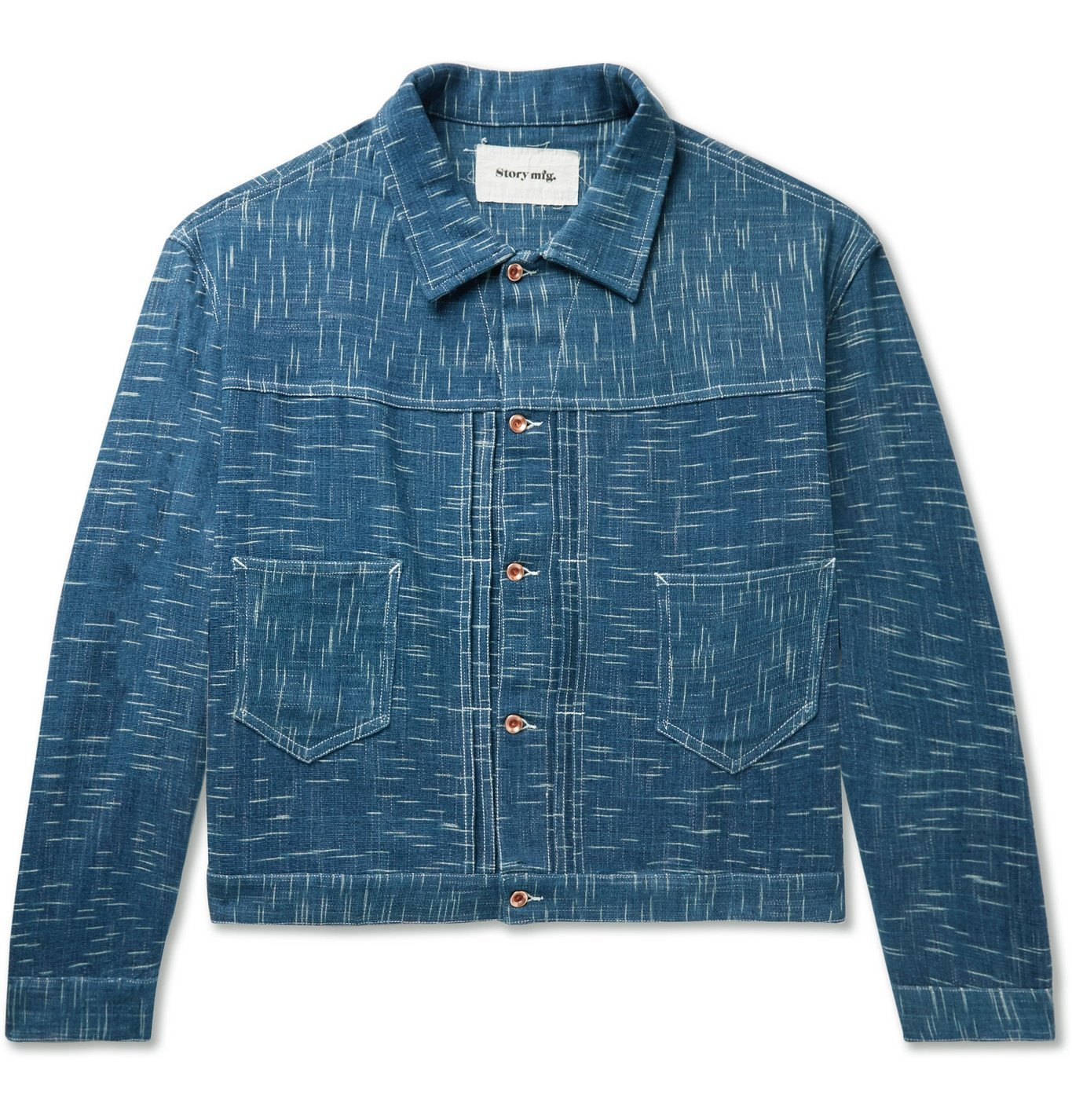 Photo: Story Mfg. - Sundae Indigo-Dyed Organic Denim Jacket - Blue