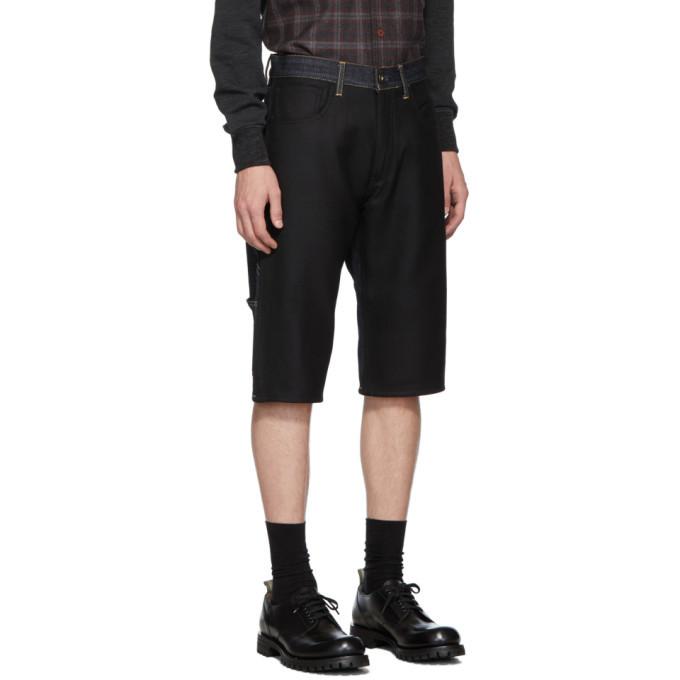 Junya Watanabe Indigo and Black Levis Edition 503 Customized Shorts