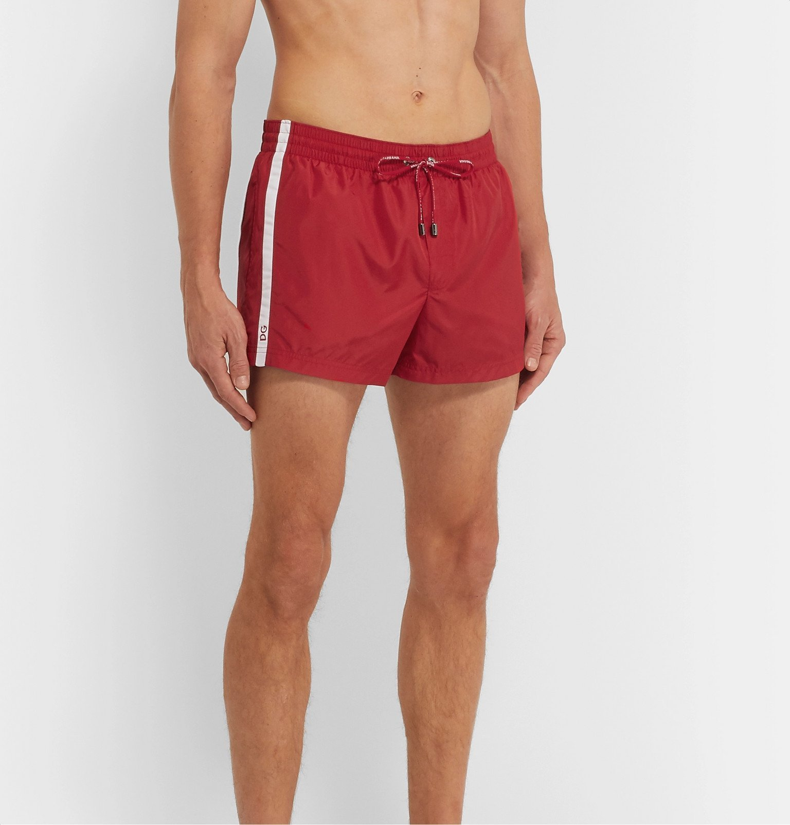 Dolce & Gabbana - Short-Length Swim Shorts - Red