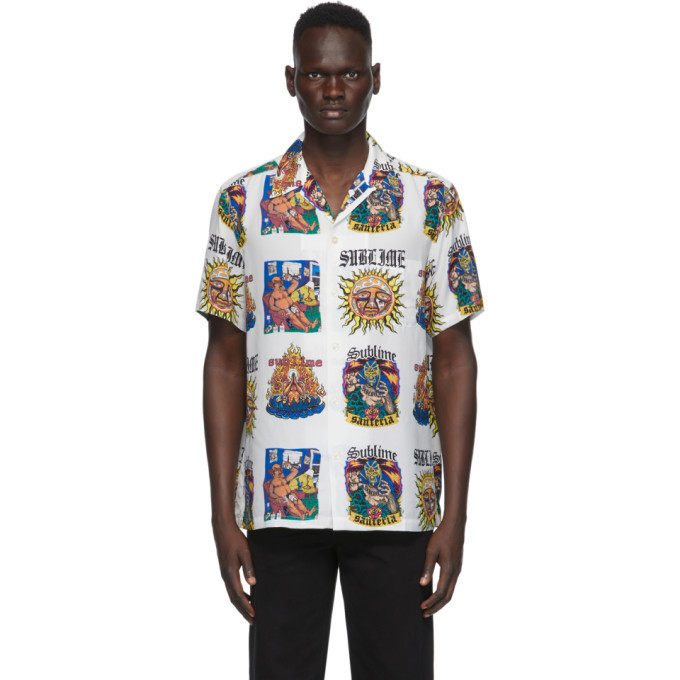 Photo: WACKO MARIA White Sublime Edition Hawaiian Album Print Shirt