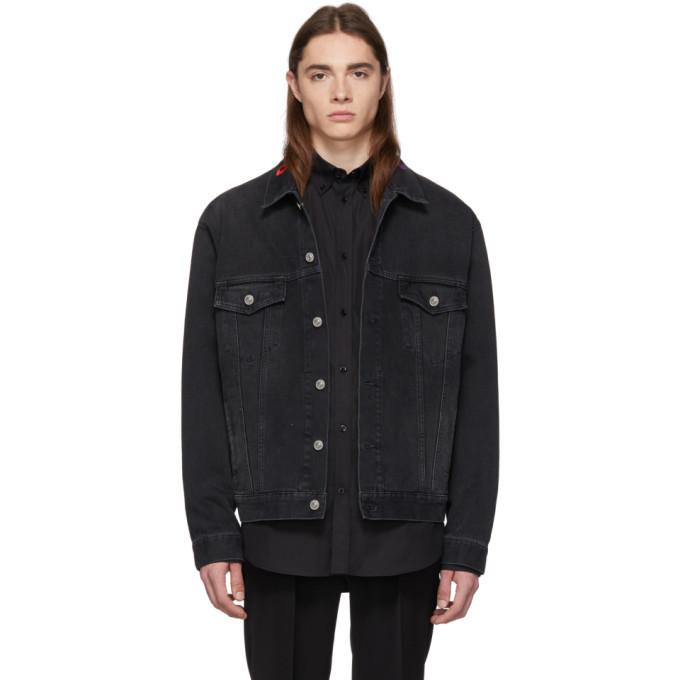 Photo: Balenciaga Black Denim Logo Jacket