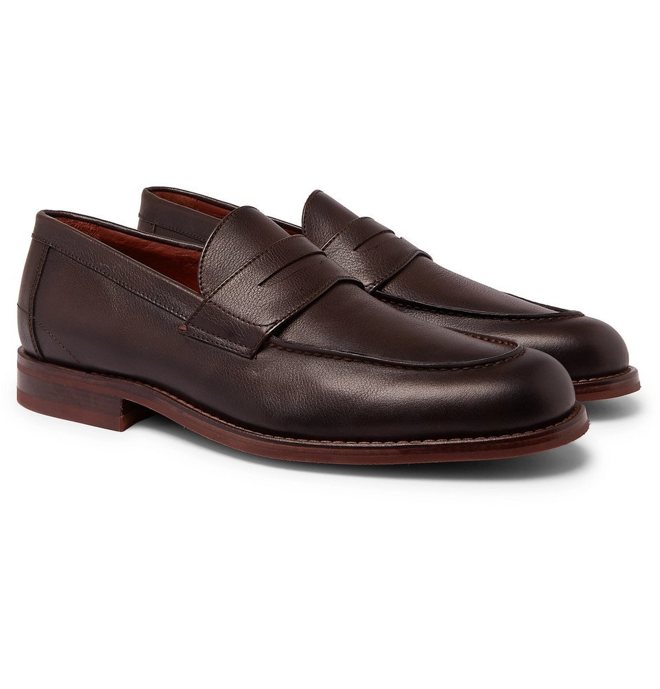 4bf714d9d99 Loro Piana - City Life Full-Grain Leather Loafers - Men - Brown Loro ...