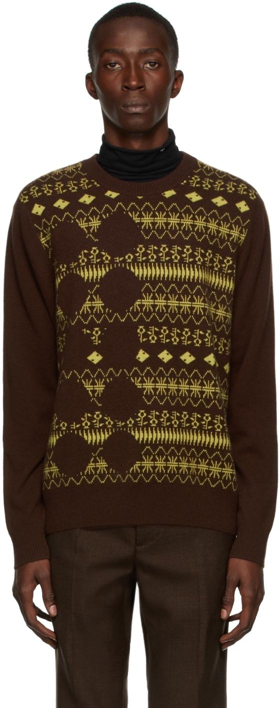Photo: Yuki Hashimoto Brown & Yellow Cashmere Warehouse Sweater