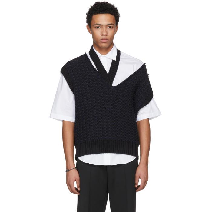 Photo: Raf Simons Black Cropped Knit Vest