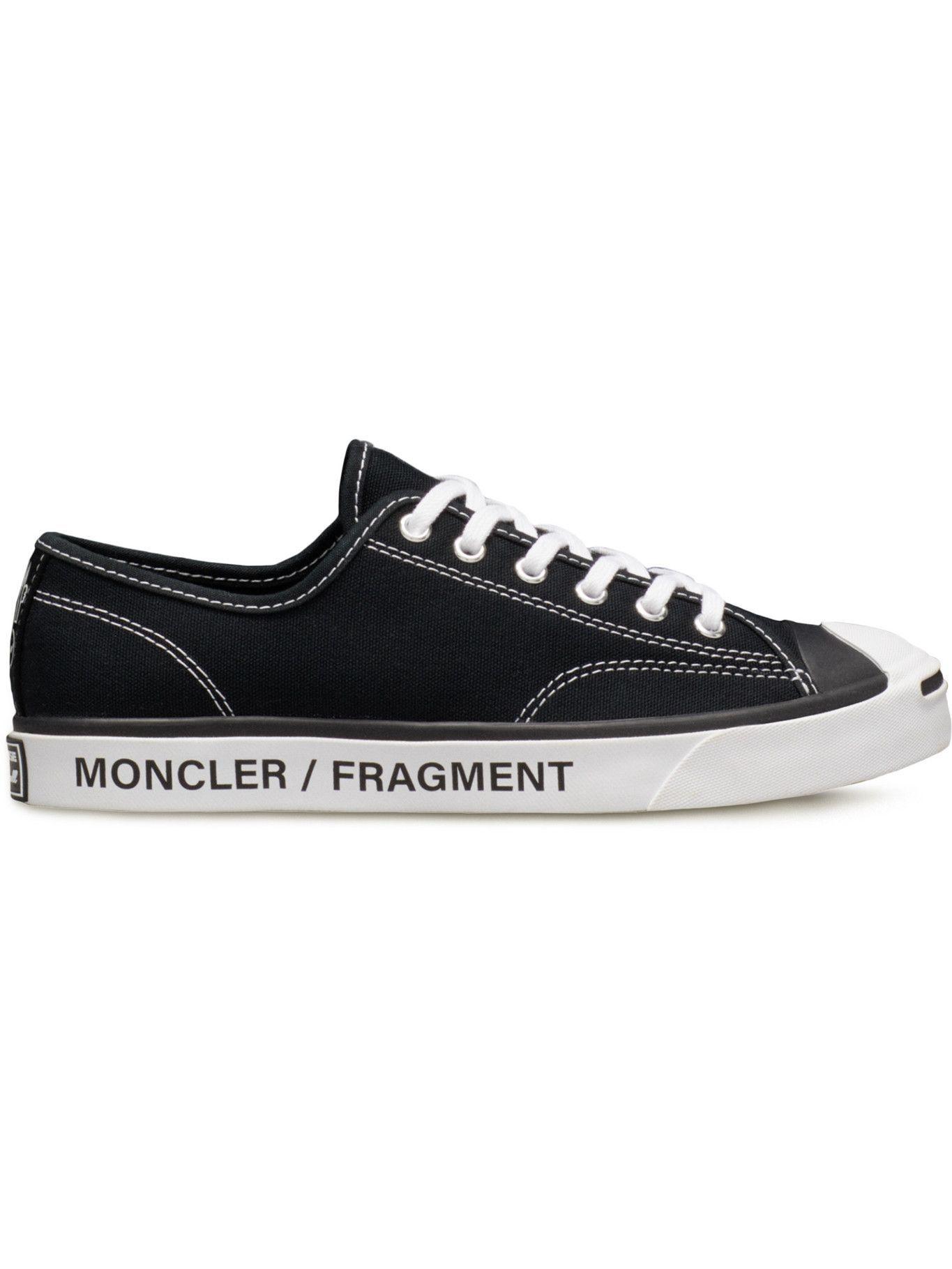 Photo: Moncler - Converse 7 Moncler Fraylor II Logo-Print Canvas Sneakers - Black