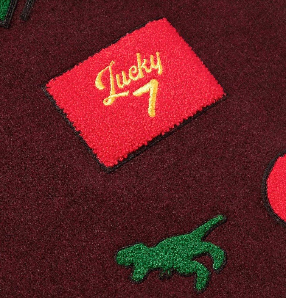 The Elder Statesman - Chenille-Appliquéd Cashmere Sweater - Burgundy