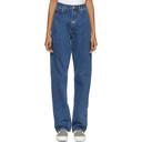 Martine Rose Indigo High-Waisted Jeans