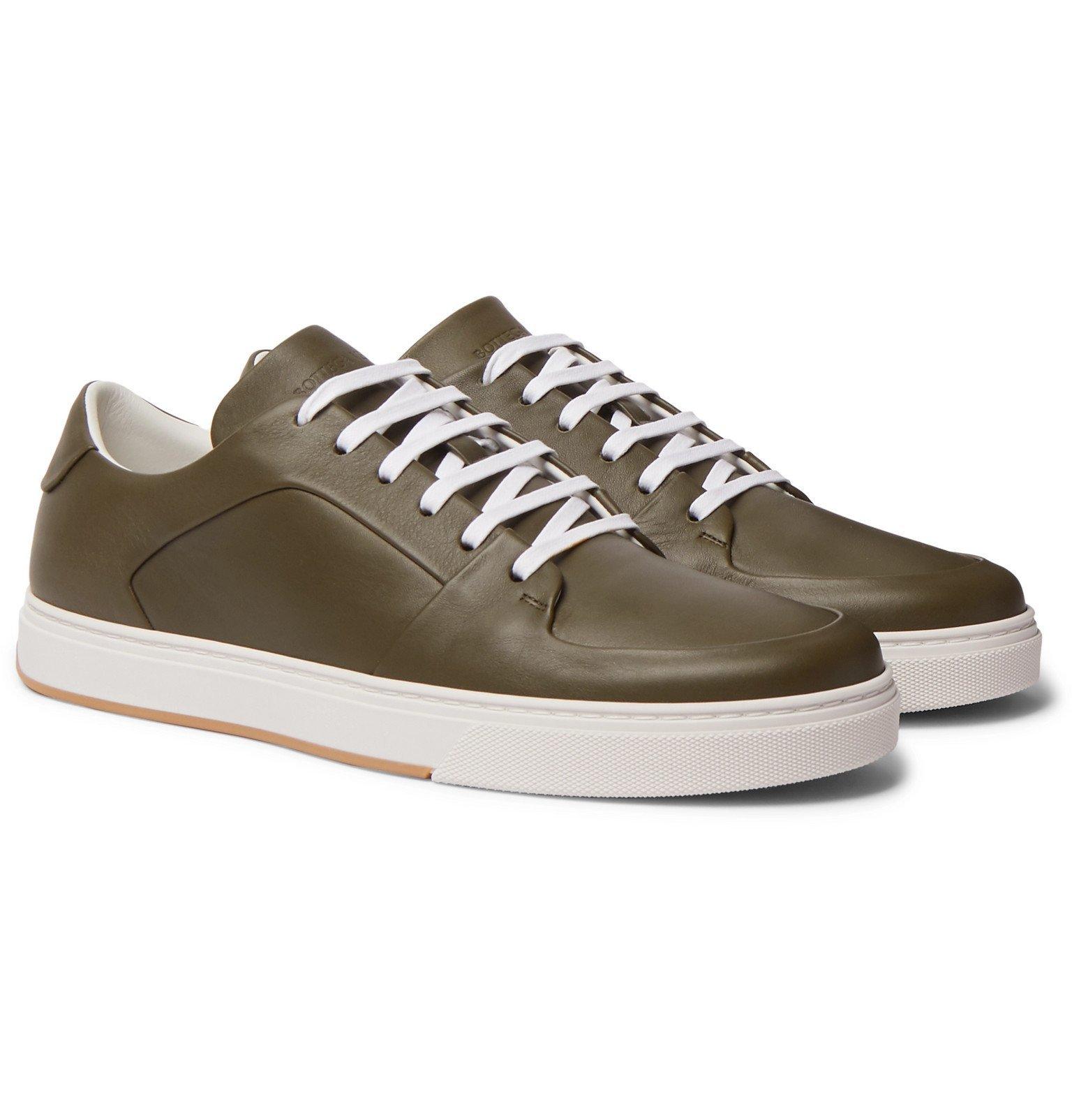 Photo: Bottega Veneta - Leather Sneakers - Green