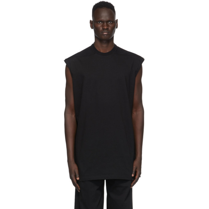 Photo: Rick Owens Black Tarp Sleeveless T-Shirt