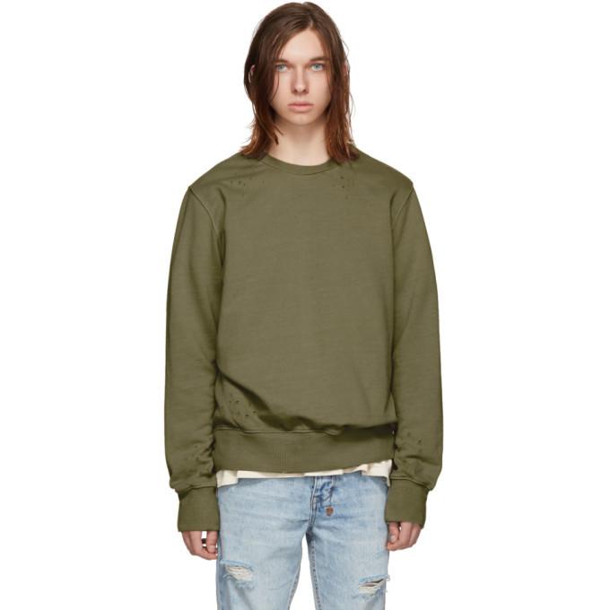 Ksubi Green Seeing Lines Decon Sweatshirt
