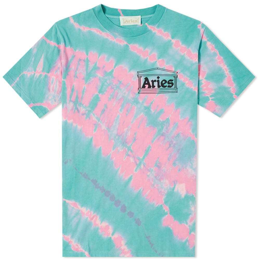 Aries Temple Chest Logo Tie Dye Tee Pink