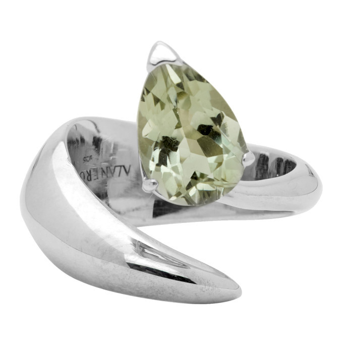 Photo: Alan Crocetti Silver and Green Amethyst Alien Ring