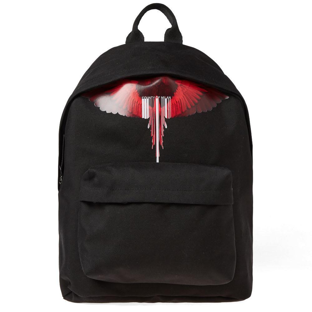 Photo: Marcelo Burlon Wings Barcode Logo Backpack