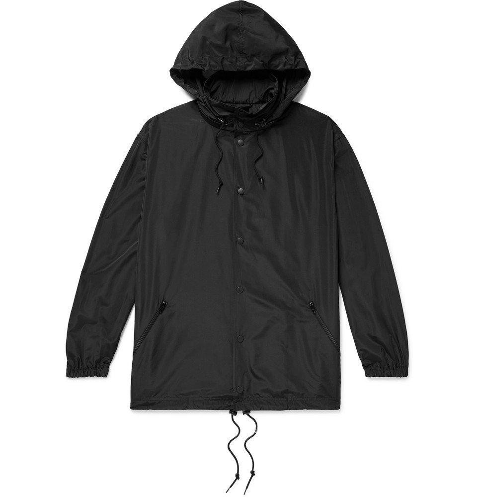 Photo: Balenciaga - Oversized Logo-Embroidered Shell Hooded Jacket - Black