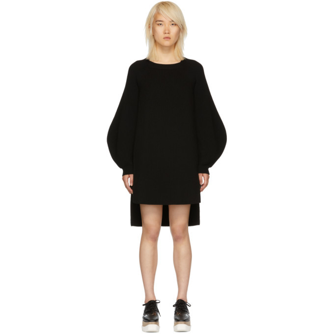 Outlet Shopping Online Black Voluminous Sleeve Knit Dress Stella McCartney New Styles Explore New Styles Cheap Price 6ouh0