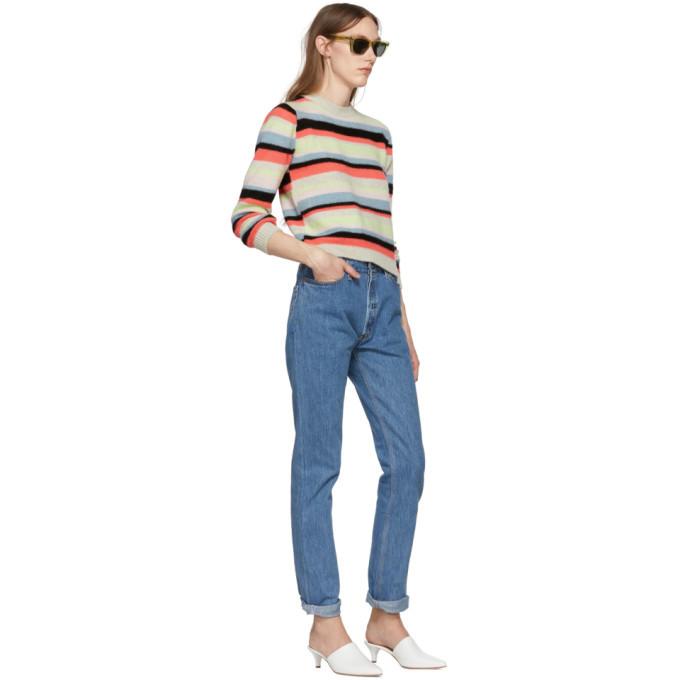 The Elder Statesman SSENSE Exclusive Multicolor Cashmere Simple Striped Sweater
