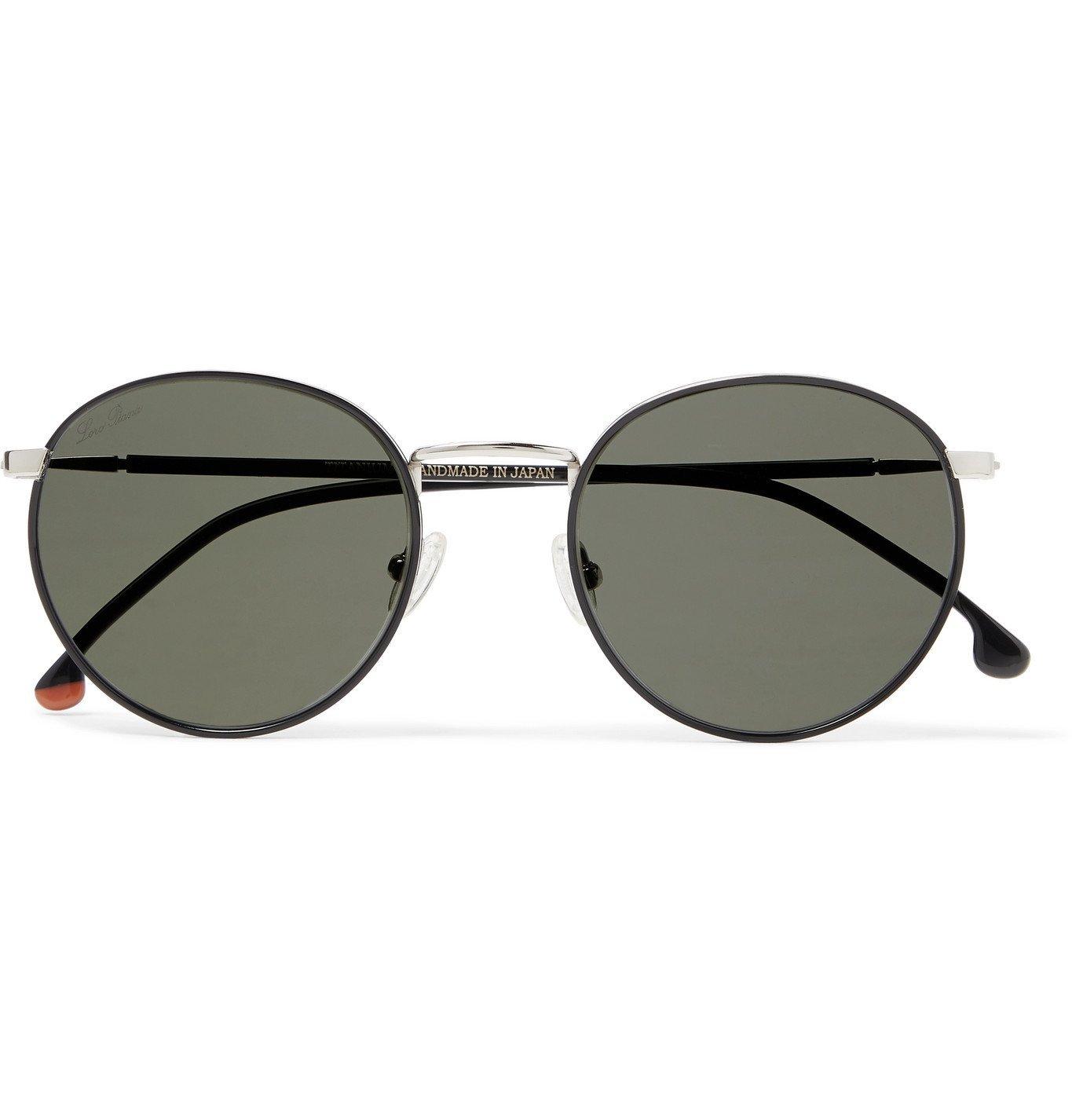 Photo: Loro Piana - Weekend Turtle Round-Frame Titanium and Acetate Sunglasses - Silver