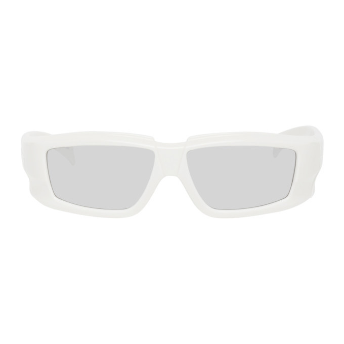 Photo: Rick Owens Off-White and Silver Rick Sunglasses