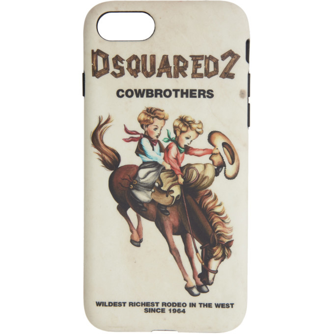 Photo: Dsquared2 Multicolor Cowbrothers iPhone 8 Case