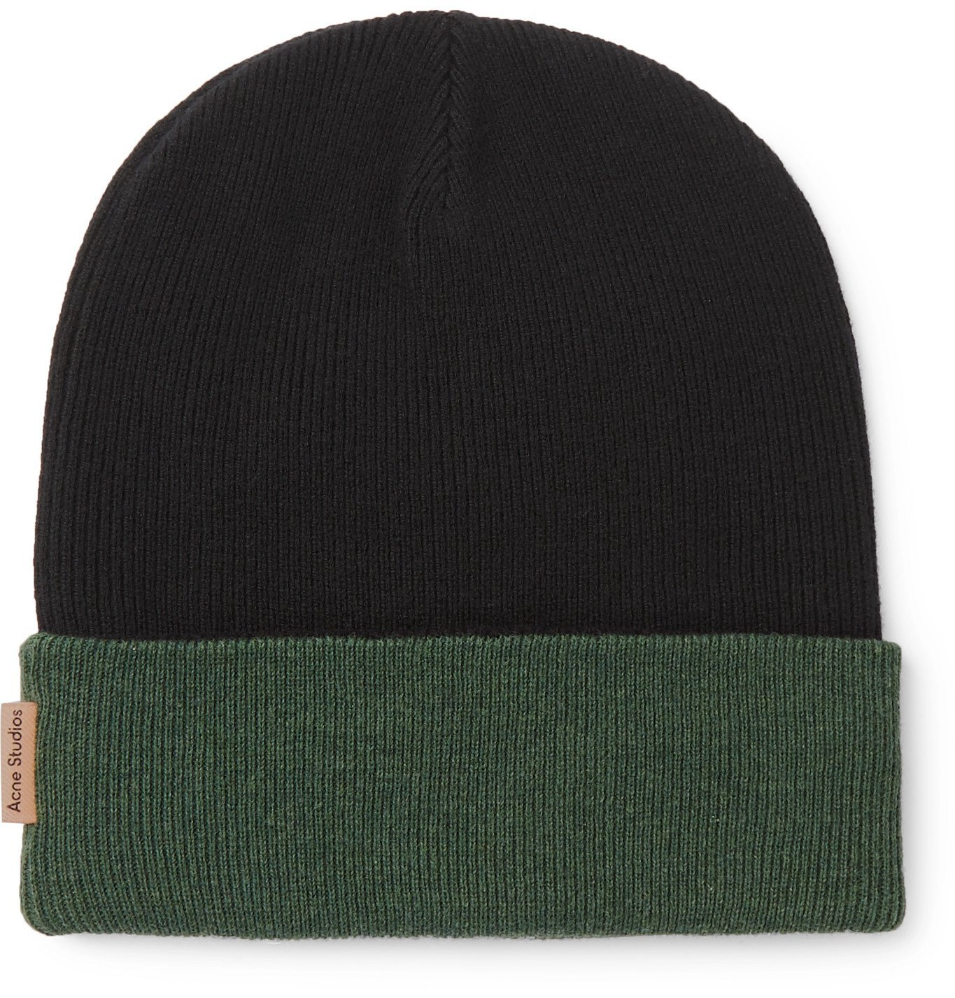 Photo: Acne Studios - Reversible Colour-Block Wool Beanie - Black
