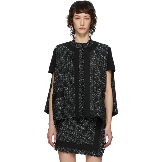 Photo: Sacai Black Wool Summer Tweed Vest