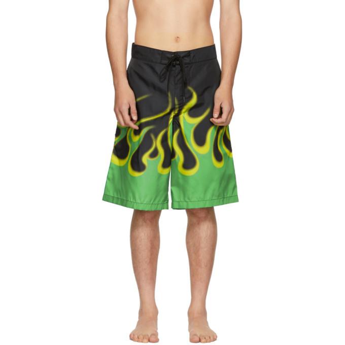 Photo: Prada Black Flame Swim Shorts