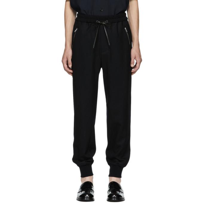 Photo: 3.1 Phillip Lim Black Cropped Drop Lounge Pants