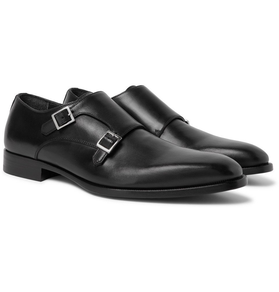 Dunhill - Leather Monk-Strap Shoes - Black