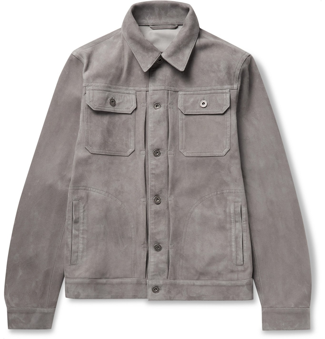 Photo: Valstar - Suede Trucker Jacket - Gray