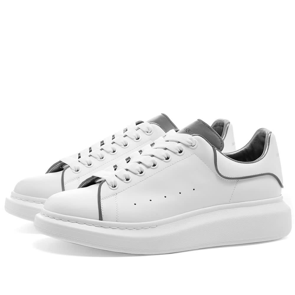 Photo: Alexander McQueen 3M Detail Oversized Sneaker White & Silver