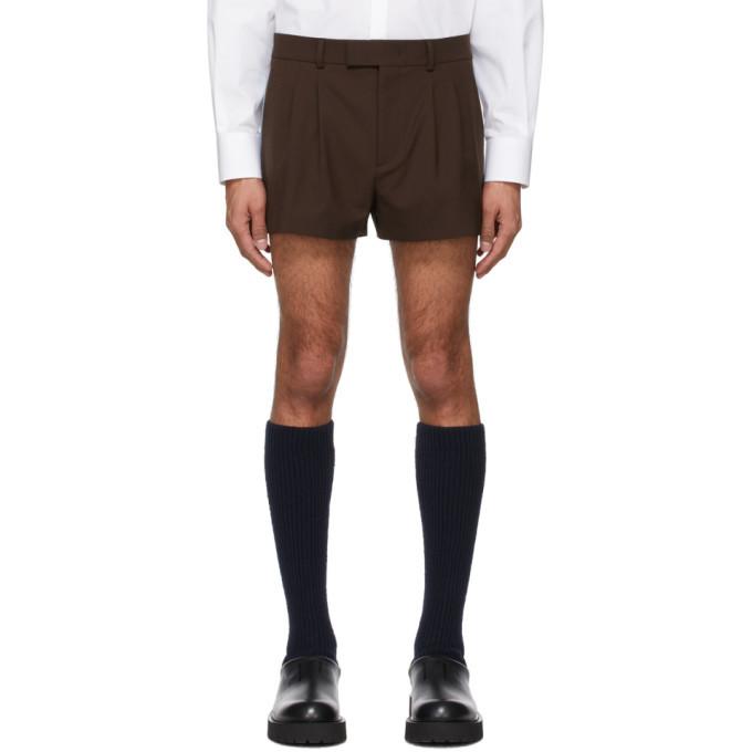Photo: Valentino Brown Wool Shorts