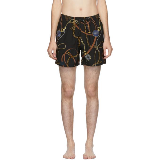 Photo: Amiri Black Tassels Swim Trunks