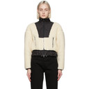 3.1 Phillip Lim Off-White Cropped Sherpa Bonded Jacket