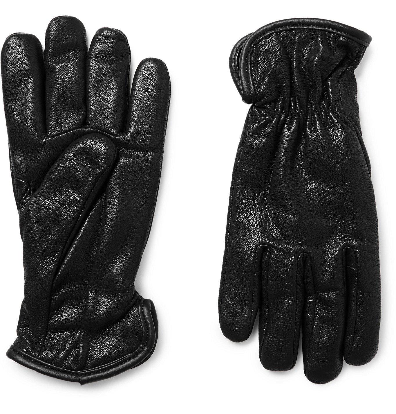 Filson - Merino Wool-Lined Full-Grain Leather Gloves - Black