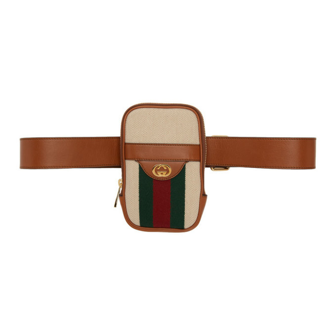 Photo: Gucci Beige Vintage Belted iPhone Pouch