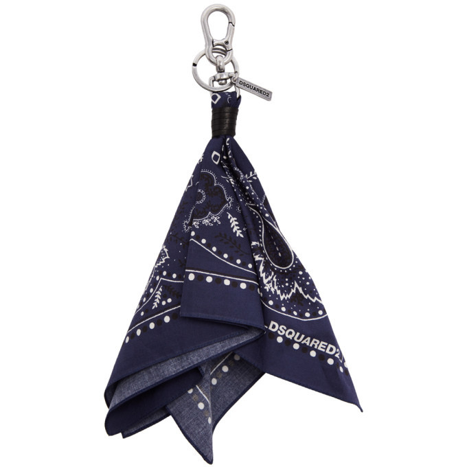 Photo: Dsquared2 Navy Bandana Keychain