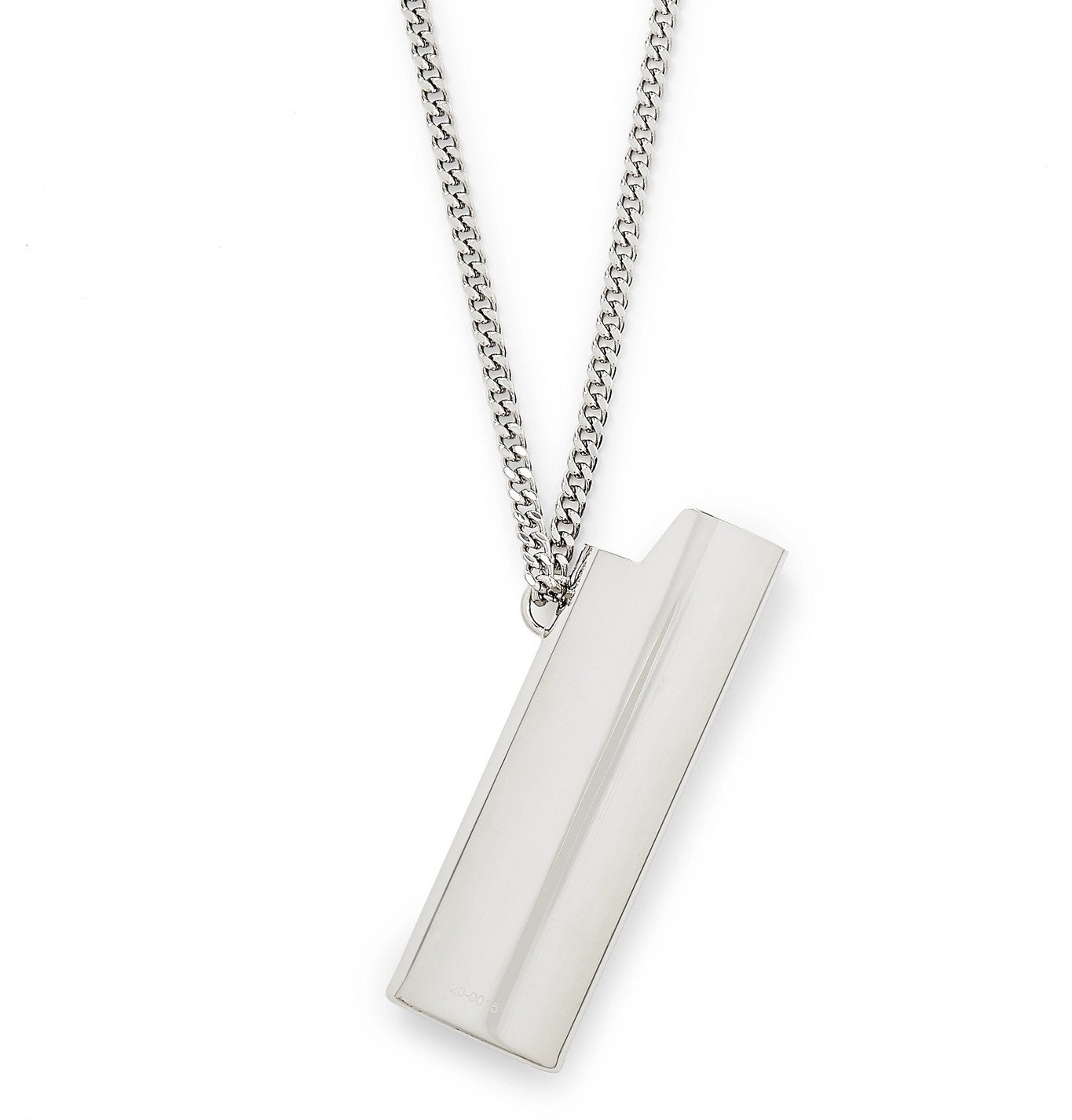 1017 ALYX 9SM - Logo-Embossed Silver-Tone Lighter Case Necklace - Silver