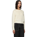 3.1 Phillip Lim White Boucle High Low Sweater