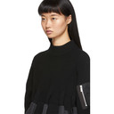 Sacai Black Knit MA-1 Pullover