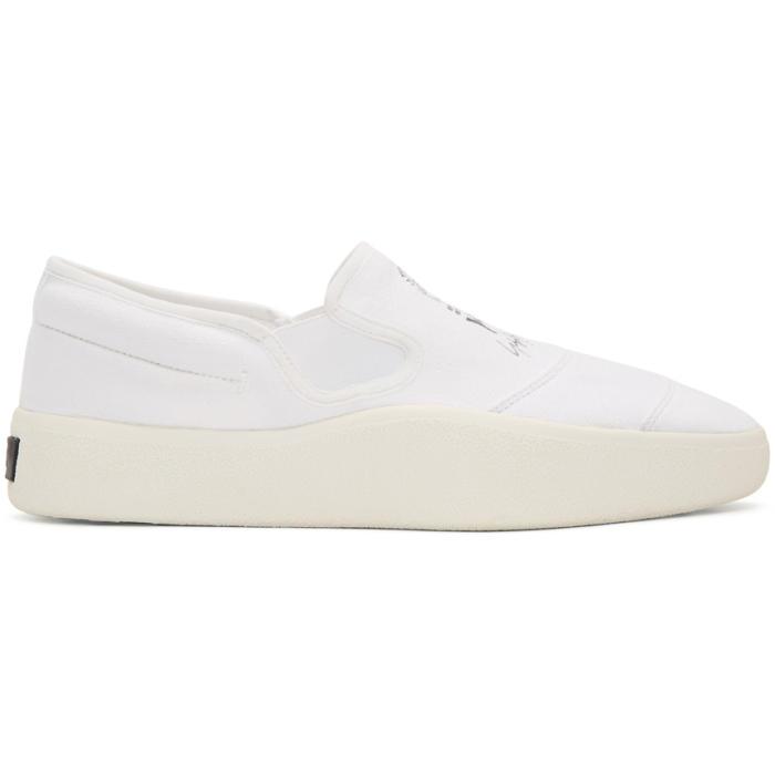 Y-3 White and Black Y-3 Tangutsu Slip-On Sneakers