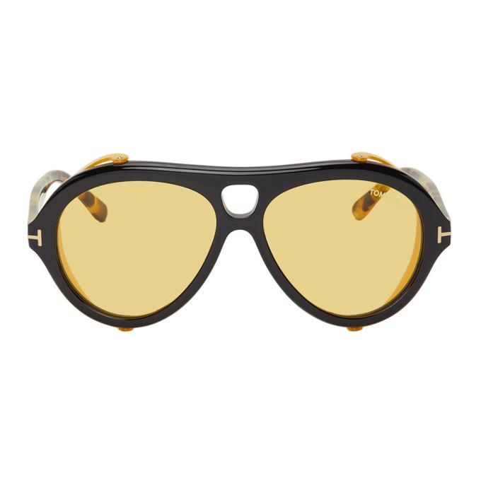 Photo: Tom Ford Black and Tortoiseshell Neughman Sunglasses